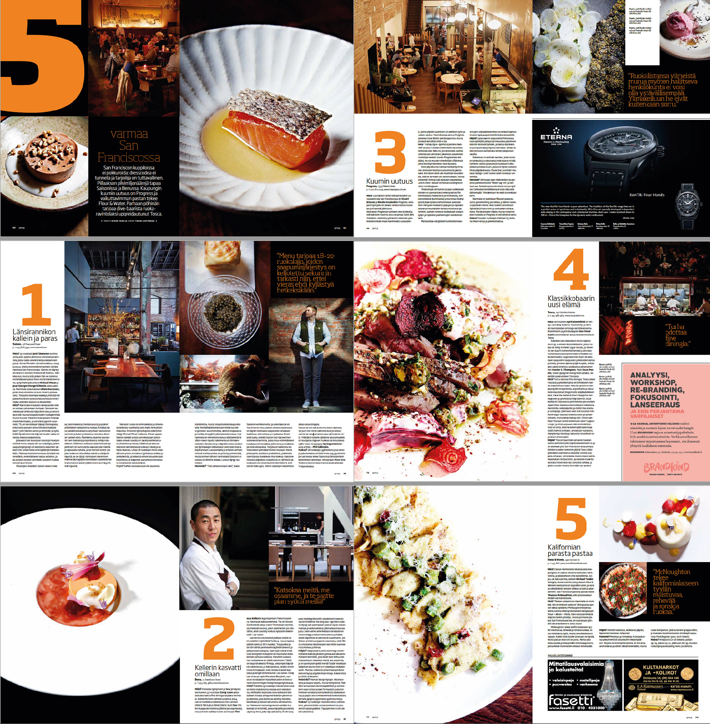 Optio-magazine 2015 | Restaurant feature | 5 Best San Francisco