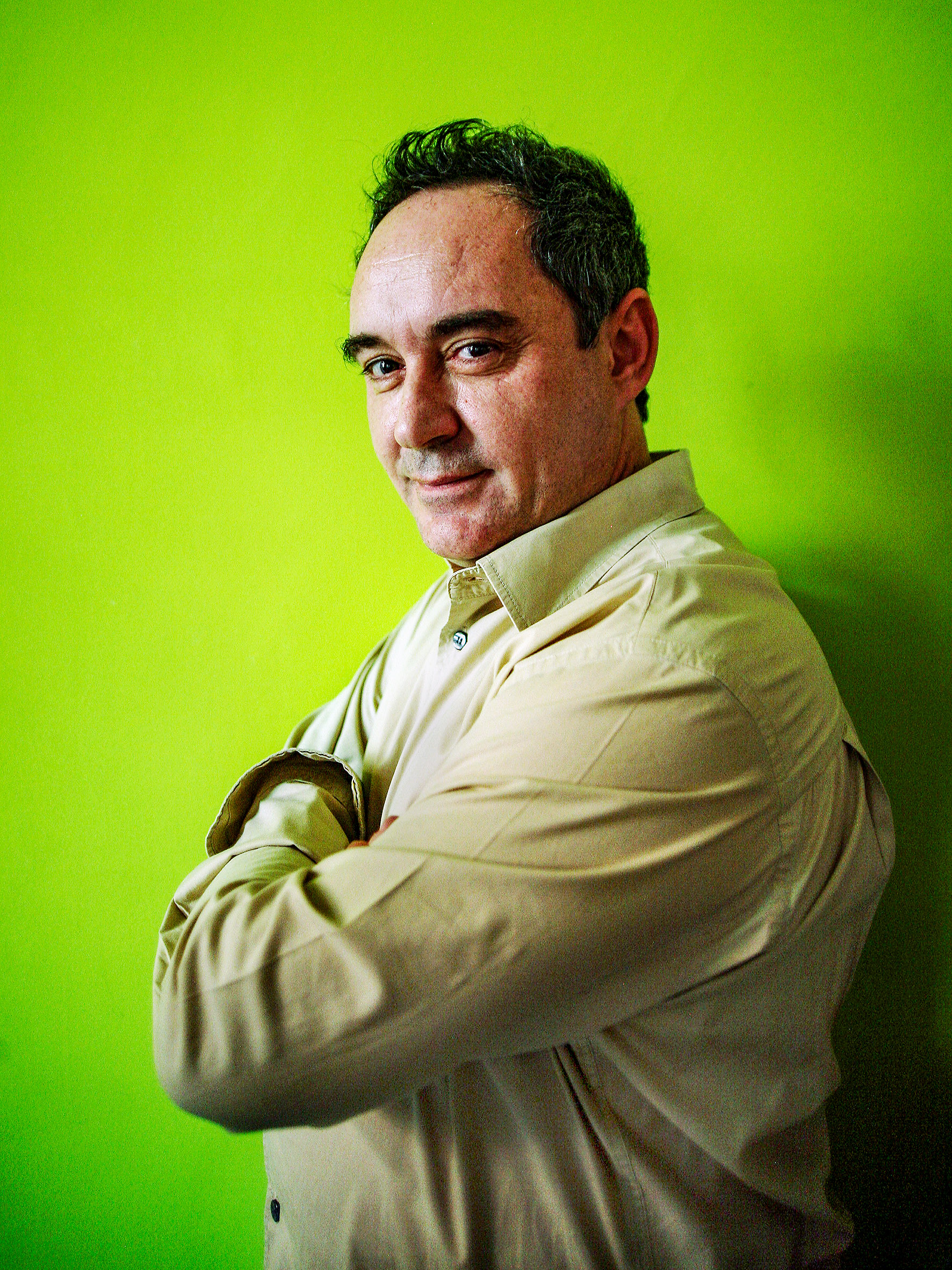 Chef Portraits | Ferran Adria, the head chef of the legendary Catalan restaurant ElBulli | Barcelona, Spain 2006