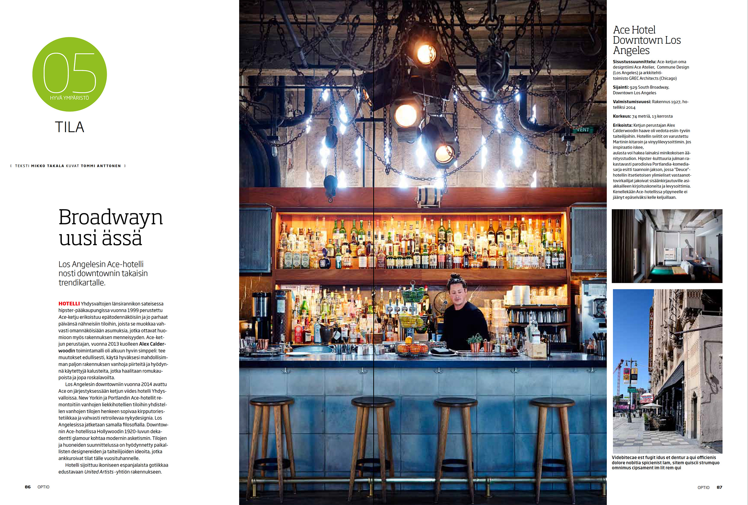 Optio-magazine 2016 | Hotel feature | Ace - Downtown Los Angeles