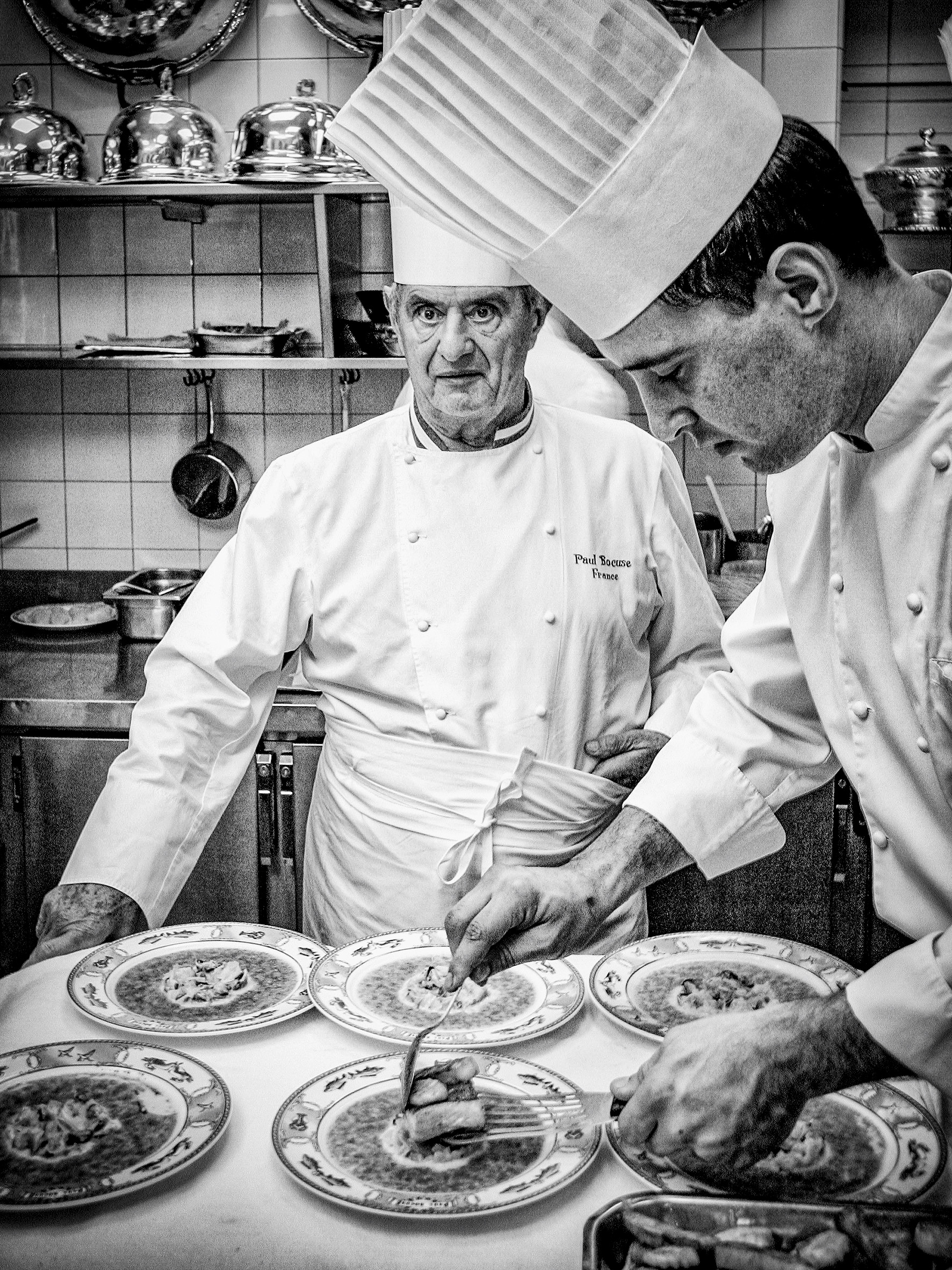 Chef Portraits | Legendary French chef Paul Bocuse at his main restaurant, l
