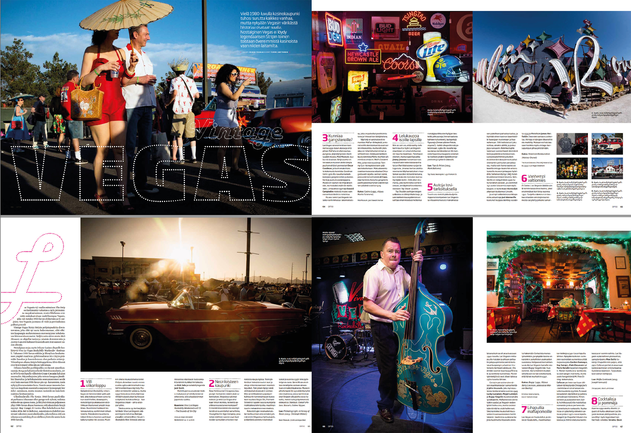 Optio-magazine 2016 | Travel feature | Vintage Vegas