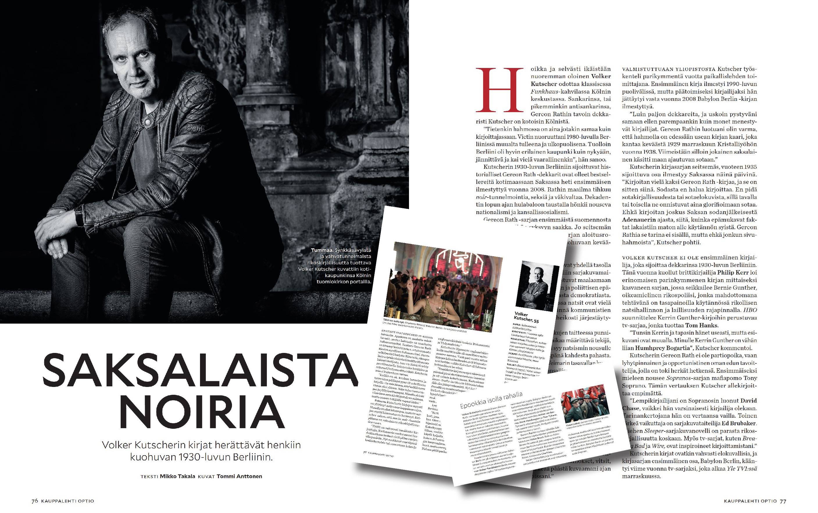 Optio-magazine |  Interview with Volker Kutscher (Author of Babylon Berlin) | November 2018